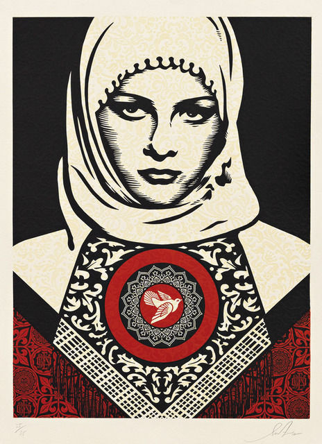 Shepard Fairey Arab Woman, 2012