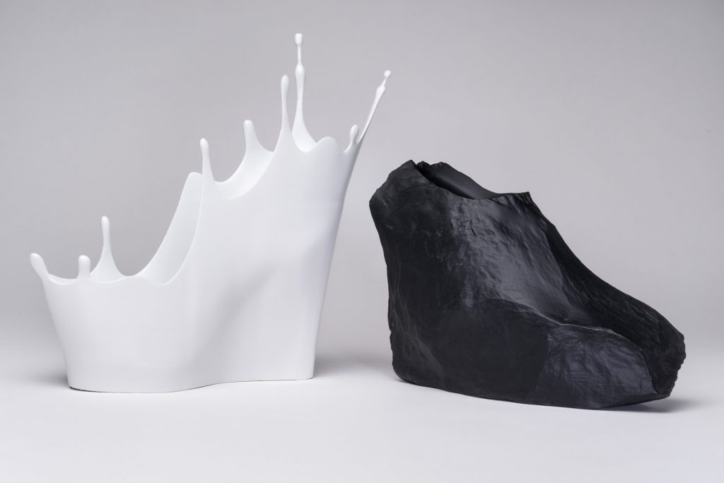 "Sebastian Errazuriz, ""The Cry Baby"" and ""The Rock,"" from the ""12 Shoes for 12 Lovers"" collection, 2013."